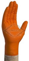 DISPOSABLE GLOVES, 8 MIL, ORANGE, 100/CASE, SIZE: LARGE