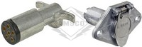 TRAILER PLUG & SOCKET, 6-POLE