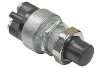 PUSH BUTTON SWITCH, 12-24V, 2-P, 2-T, SPST, MOMENTARY
