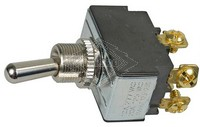TOGGLE SWITCH, 12V, 2-P, 4-T, DPST