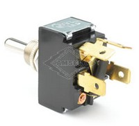 TOGGLE SWITCH, 12-36V, 3-P, 4-T, DPDT, MOMENTARY
