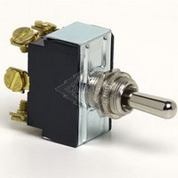 TOGGLE SWITCH, 12-36V, 3-P, 6-T, DPDT, MOMENTARY